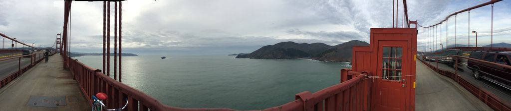 Golden bridge panorama