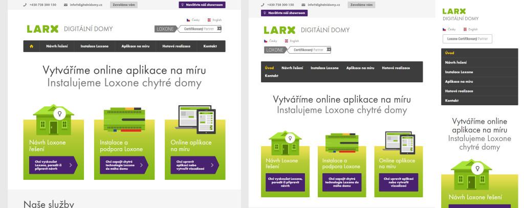 Příklad responzivního webu: digitalnidomy.cz